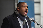 David Lammy MP - A march against racism, organised by Stand Up to Racism and supporterd by the TUC and most major unions including Unison, Unite, The PCS and the NUT. It started in Portland place and ended up in Parlaiment Square, Westminster - London 18 Mar 2017.