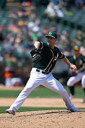 OAKLAND, CA - JULY 23:  Eric O'Flaherty #39 of the Oakland Athletics pitches against the Toronto Blue Jays during the ninth inning at O.co Coliseum on July 23, 2015 in Oakland, California. The Toronto Blue Jays defeated the Oakland Athletics 5-2. (Photo by Jason O. Watson/Getty Images) *** Local Caption *** Eric O'Flaherty