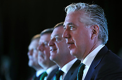 FAI Chief Executive John Delaney during the announcement at Windsor Park, Belfast, that the FAI & IFA will perform a joint bid for the 2023 UEFA U21 Championship.