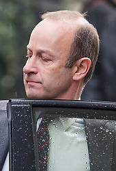 © Licensed to London News Pictures. 31/01/2018. London, UK. UKIP leader HENRY BOLTON is seen getting in to a mini cab in Westminster, London on January 31, 2018. The UK Independence Part is due to hold an EGM in February to decide Henry Bolton's future, following a number of unfavourable stories about Bolton's private life.  Photo credit: Ben Cawthra/LNP