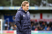 AFC Wimbledon manager Neal Ardley walking off the pitch during the EFL Sky Bet League 1 match between AFC Wimbledon and Luton Town at the Cherry Red Records Stadium, Kingston, England on 27 October 2018.