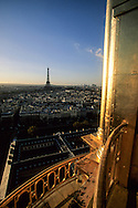 France. Paris. view from the dome of the invalid church, on the Eiffel tower Paris  France
