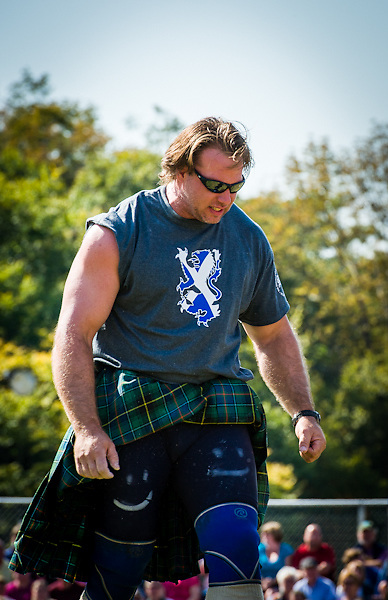 Mike Zolkiewicz, Scottish Heavy Athlete, competes at the New Hampshire Highland Games, Loon Mountain Resort, Lincoln, New Hampshire. All Content is Copyright of Kathie Fife Photography. Downloading, copying and using images without permission is a violation of Copyright.