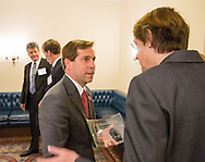 Rep. Chuck Fleischmann, left, talks with Nancy E. Davidson, MD, President of American Association for Cancer Research, during the Hill Day reception held at Rayburn House Office Building in Washington, DC, on Wednesday, May 11, 2016. The American Association for Cancer Research (AACR), the Association of American Cancer Institutes (AACI), and the American Society of Clinical Oncology (ASCO) honored U.S. Representatives Kathy Castor (D-Fla.) and Chuck Fleischmann (R-Tenn.) for their outstanding leadership on behalf of cancer research during the reception. (Alan Lessig/)