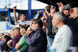 Bristol Rovers fans continue to show their sport despite their teams 3-2 loss - Photo mandatory by-line: Rogan Thomson/JMP - 07966 386802 - 19/04/2014 - SPORT - FOOTBALL - Fratton Park, Portsmouth - Portsmouth FC v Bristol Rovers - Sky Bet Football League 2.