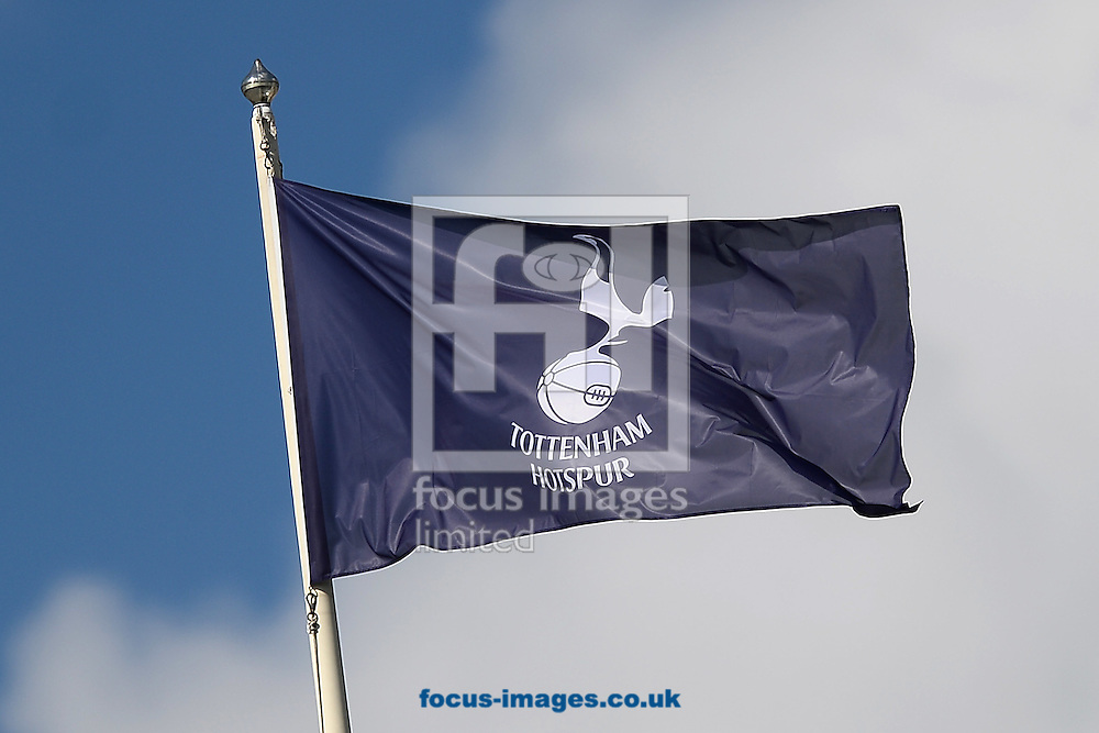 A Tottenham flag during the Barclays Premier League match between Tottenham Hotspur and Crystal Palace at White Hart Lane, London<br /> Picture by Richard Blaxall/Focus Images Ltd +44 7853 364624<br /> 20/09/2015