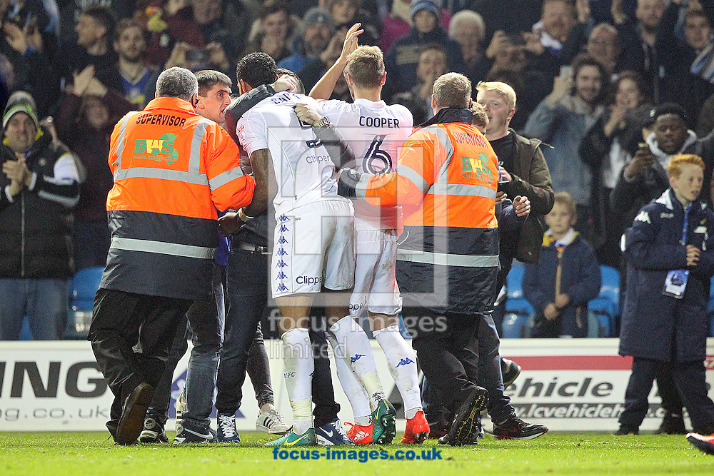 The Leeds players celebrate victory at the end of the EFL Cup match at Elland Road, Leeds<br /> Picture by Paul Chesterton/Focus Images Ltd +44 7904 640267<br /> 25/10/2016