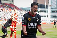 UTRECHT, FC Utrecht - SBV Excelsior, voetbal Eredivisie seizoen 2014-2015, 10-05-2015, Stadion Galgenwaard, Excelsior speler Ninos Gouriye (M) heeft de 1-1 gescoord.