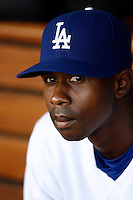 May 12, 2007: Portrait of Juan Pierre in the dugout  as the Los Angeles Dodgers defeated the Cincinnati Reds 7-3 at Dodger Stadium in Los Angeles, CA.