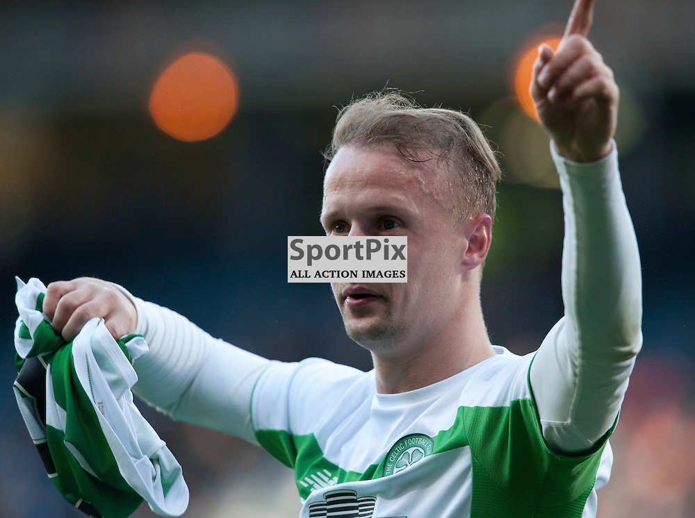Leigh Griffiths  celebrates at fulltime in the match between Rangers v Celtic, Betfred Cup semi-final, Hampden Park, Sunday 23 October 2016, (c) Angie Isac   SportPix.org.uk