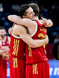 Semen Antonov of Russia and Dmitrii Kulagin of Russia during basketball match between National Teams of Greece and Russia at Day 14 in Round of 16 of the FIBA EuroBasket 2017 at Sinan Erdem Dome in Istanbul, Turkey on September 13, 2017. Photo by Vid Ponikvar / Sportida