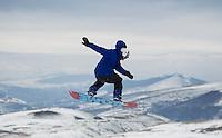 17 Febrero 2013, Alto Campo, Cantabria,España --- Campeonato de Snowboard Freestyle . Photo by Juan Manuel Serrano Arce