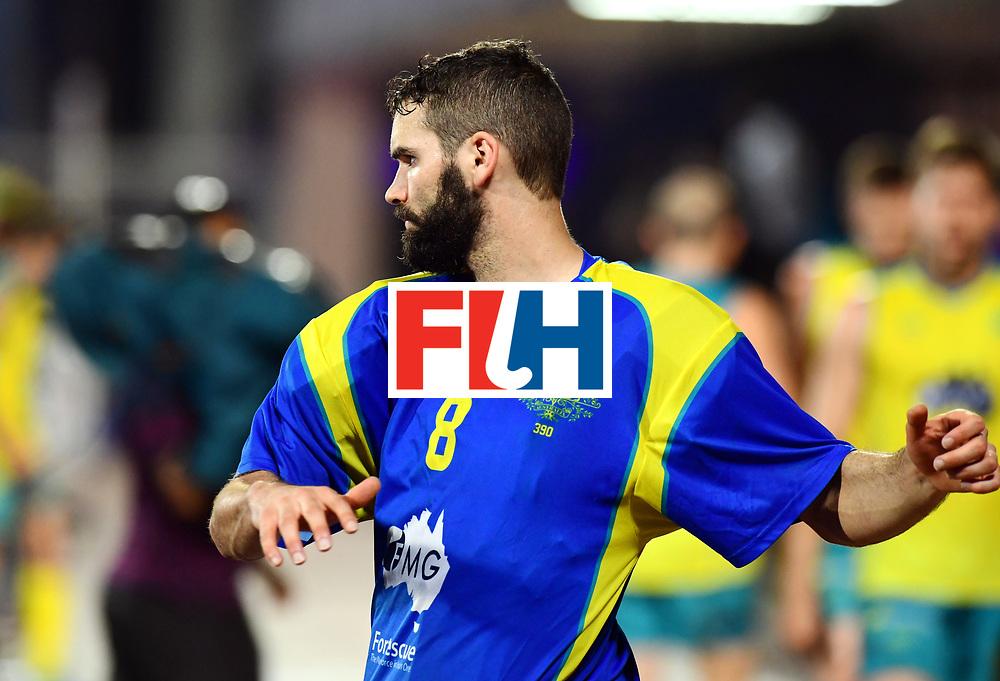 Odisha Men's Hockey World League Final Bhubaneswar 2017<br /> Match id:20<br /> Australia v Germany<br /> Foto: keeper Tristan Clemons (Aus) <br /> COPYRIGHT WORLDSPORTPICS FRANK UIJLENBROEK