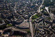 Nederland, Friesland, Leeuwarden, 08-09-2009; Noordoostelijk deel binnenstad, Hoeksterend met Oostersingel Bonofatiuskerk.Eastern part of the city.Luchtfoto (toeslag); aerial photo (additional fee required); .foto Siebe Swart / photo Siebe Swart
