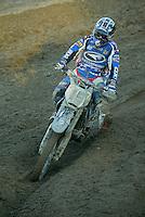 Mantova , 110207 , Starcross Seasonopener  Erstes Kraeftemessen der internationalen Motocrosselite beim Starcross in Mantova.  Cristian BEGGI (WRM , ITA)