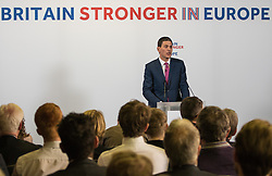 Church House, Dean's Yard, Westminster, London, April 12th 2016. Britain Stronger in Europe hold a keynote speech by former Foreign Secretary David Miliband on the foreign policy implications of Britain leaving Europe.<br /> ©Paul Davey<br /> FOR LICENCING CONTACT: Paul Davey +44 (0) 7966 016 296 paul@pauldaveycreative.co.uk