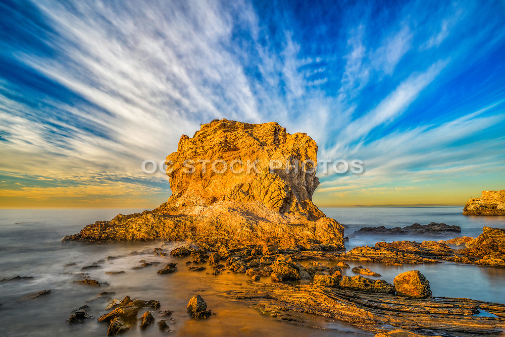 Limestone Rock Formation off the Coast of Cameo Shores of Corona Del Mar California