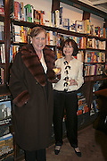 Viscountess Stuart of Findhorn and Marguerite Littman , Book launch of Pretty Things by Liz Goldwyn at Daunt <br />Books, Marylebone High Street. London 30 November 2006.   ONE TIME USE ONLY - DO NOT ARCHIVE  © Copyright Photograph by Dafydd Jones 248 CLAPHAM PARK RD. LONDON SW90PZ.  Tel 020 7733 0108 www.dafjones.com