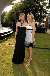 Left to right, JULIA PEYTON-JONES and NADJA SWAROVSKI at the annual Serpentine Gallery Summer Party in association with Swarovski held at the gallery, Kensington Gardens, London on 11th July 2007.<br />