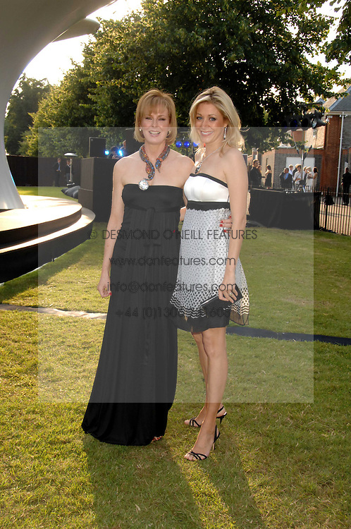 Left to right, JULIA PEYTON-JONES and NADJA SWAROVSKI at the annual Serpentine Gallery Summer Party in association with Swarovski held at the gallery, Kensington Gardens, London on 11th July 2007.<br /><br />NON EXCLUSIVE - WORLD RIGHTS