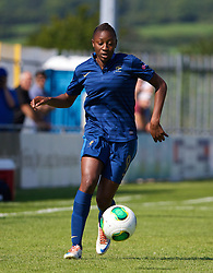 HAVERFORDWEST, WALES - Sunday, August 25, 2013: France's Kadidiatou Diani in action against Wales during the Group A match of the UEFA Women's Under-19 Championship Wales 2013 tournament at the Bridge Meadow Stadium. (Pic by David Rawcliffe/Propaganda)