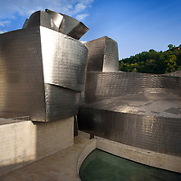 The Bilbao Guggenheim Museum of Modern Art by architect Frank O. Gehry.