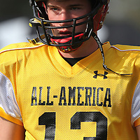 Quarterback Max Wittek during the practice session at the Walt Disney Wide World of Sports Complex in preparation for the Under Armour All-America high school football game on December 3, 2011 in Lake Buena Vista, Florida. (AP Photo/Alex Menendez)