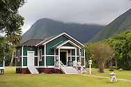 The book store during the guided tour at the historic site of Kalaupapa on the island of Molokai, Hawaii, USA