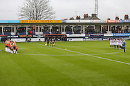 Luton Town and Barnet players, together with suporters and officials, observe a minutes silence in respect of the Paris tradegy in France ahead of the Sky Bet League 2 match at Kenilworth Road, Luton<br /> Picture by David Horn/Focus Images Ltd +44 7545 970036<br /> 14/11/2015