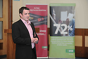 Simon Murray, universal Graphics,  at the An Post Driving Success Roadshow at the Radisson Hotel, Galway. The event focused on practical and creative marketing techniques and saw attendees gain valuable insights into successful campaigns from leading marketing experts. Broadcaster Matt Cooper was MC at the event. .Photo:Andrew Downes
