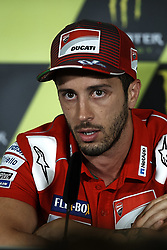 June 14, 2018 - Montmelo, Barcelona, Spain - Andrea Dovizioso (4) of Italy and Ducati Team during the press conference before of the Gran Premi Monster Energy de Catalunya, Circuit of Catalunya, Montmelo, Spain.On 14 june of 2018. (Credit Image: © Jose Breton/NurPhoto via ZUMA Press)