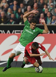 05.11.2011, Weserstadion, Bremen, GER, 1.FBL, Werder Bremen vs 1. FC Köln / Koeln, im Bild Sokratis (Bremen #22), Slawomir Peszko (Koeln #15)..// during the match Werder Bremen vs 1. FC Koeln on 2011/11/05, Weserstadion, Bremen, Germany..EXPA Pictures © 2011, PhotoCredit: EXPA/ nph/  Frisch       ****** out of GER / CRO  / BEL ******