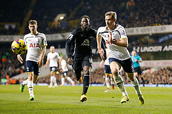 Jan Vertonghen of Tottenham Hotspur and Romelu Lukaku of Everton compete for the ball - Photo mandatory by-line: Rogan Thomson/JMP - 07966 386802 - 30/11/2014 - SPORT - FOOTBALL - London, England - White Hart Lane - Tottenham Hotspur v Everton - Barclays Premier League.