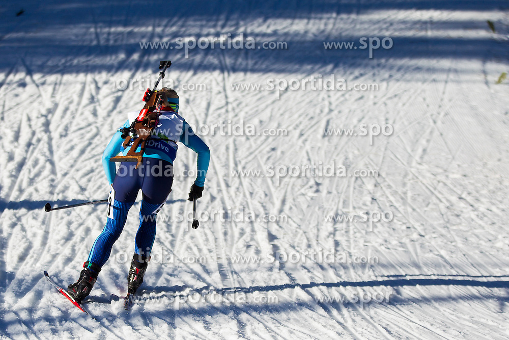 Anna Kistanova (KAZ) competes during Women 10 km Pursuit at day 3 of IBU Biathlon World Cup 2015/16 Pokljuka, on December 19, 2015 in Rudno polje, Pokljuka, Slovenia. Photo by Urban Urbanc / Sportida