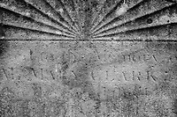 Tombstone Detail Close-up, All Saints Church Cemetery - Fulham, London, England, 2017