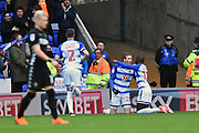 Goal - Jon Dadi Boovarsson (23) of Reading celebrates scoring a goal to give a 1-0 lead to the home team during the EFL Sky Bet Championship match between Reading and Leeds United at the Madejski Stadium, Reading, England on 10 March 2018. Picture by Graham Hunt.