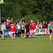SV Huizen - Dovo 0-1, rode kaart voor Michel van de Broek, opstootje