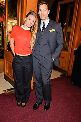 SOPHIE MOSS and PATRICK GRANT at the opening night of Amaluna by Cirque Du Soleil at The Royal Albert Hall, London on 19th January 2016.