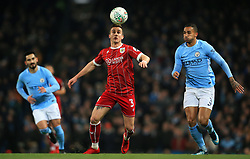 Joe Bryan of Bristol City takes on Danilo of Manchester City - Mandatory by-line: Matt McNulty/JMP - 09/01/2018 - FOOTBALL - Etihad Stadium - Manchester, England - Manchester City v Bristol City - Carabao Cup Semi-Final First Leg