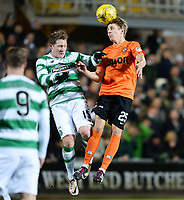 15/01/16 - LADBROKES PREMIERSHIP<br /> DUNDEE UNITED V CELTIC <br /> TANNADICE - DUNDEE <br /> Celtic's Kris Commons (left) battles with Dundee Unt's Riku Riski