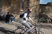 Oxford city and Oxford University Morris men, May morning, Oxford. 1 May 2016
