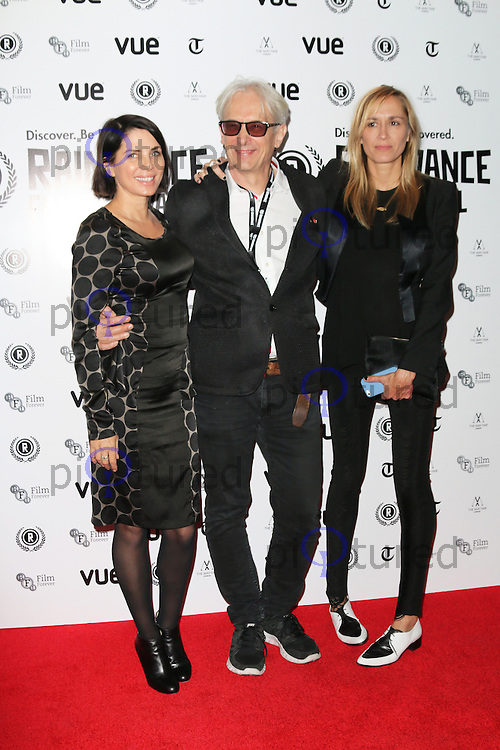 Sadie Frost; Elliot Grove; Emma Comley, Raindance Film Festival: I Origins - opening gala, Vue West End Leicester Square, London UK, 24 September 2014, Photo by Richard Goldschmidt