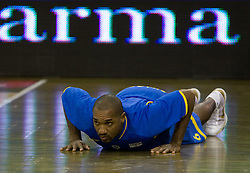 Derrick Sharp of Maccabi  at Euroleague basketball match in 6th Round of Group C between KK Union Olimpija and Maccabi Tel Aviv, on December 3, 2009, in Arena Tivoli, Ljubljana, Slovenia. (Photo by Vid Ponikvar / Sportida)