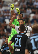 Cristiano Ronaldo (Juventus Turin) and Thomas Strakosha (Lazio Rome) during the Italian championship Serie A match between Juventus Turin and Lazio Roma at Allianz Stadium in Turin, Italy, on August 25, 2018 - Picture by Laurent Lairys / ProSportsImages / DPPI
