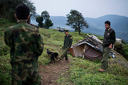Mai Ja Yang 20160912<br /> K.I.A. rebells at Lagat Bum, a frontline outpost near Mai Ja Yang in Kachin State, Myanmar.<br /> Photo: Vilhelm Stokstad / Kontinent