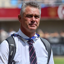 Heyneke Meyer Head Coach of Paris during Top 14 match between Perpignan and Stade Francais on August 25, 2018 in Perpignan, France. (Photo by Alexandre Dimou/Icon Sport)