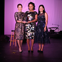Susan Sherman, Accepting for Antionette Carroll is Andrea Pornell, Marcela Hawn
