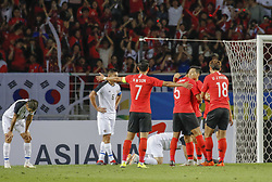 September 7, 2018 - Goyang, Gyeonggi, South Korea - September 7, 2018-Goyang, South Korea-South Korean players seconf goal action on the field during an Football A Match South Korea vs Costa Rica at Goyang Sports Complex in South Korea. Match Won South KOrea, Score by 2-0. (Credit Image: © Ryu Seung-Il/ZUMA Wire)