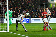 Daley Blind (17) of Manchester United makes a clearance from off the line during the EFL Cup match between Bristol City and Manchester United at Ashton Gate, Bristol, England on 20 December 2017. Photo by Graham Hunt.