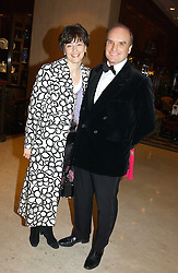 NICHOLAS & GEORGINA COLERIDGE at the Conde Nast Traveller magazine Tsunami Appeal Dinner at the Four Seasons Hotel, Hamilton Place, London W1 on 2nd March 2005.<br /><br />NON EXCLUSIVE - WORLD RIGHTS